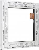 Вікно поворотно-відкидне ALMplast Delux 500x500 мм праве