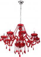 Люстра підвісна Arte Lamp Teatro 8xE14 червоний A3964LM-8RD