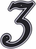 Цифра №3 пластикова LNP15 MS #3