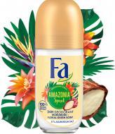 Дезодорант для жінок Fa Ритми Бразилії Amazonia Spirit 0% солей алюмінію кульковий 50 мл