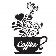 Декоративна наліпка Zatarga Чашка кави 1