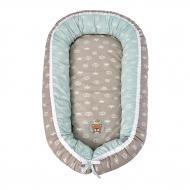 Подушка IDEIA Кокон для немовля + ортопедична подушка 25х21 см м'ятно-бежевий 8000031558