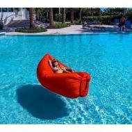 Надувной матрас гамак  шезлонг Надувной диван Надувное кресло Красный воздушный Мешок