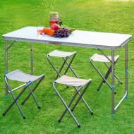 Раскладной туристический стол для пикника со стульями набор туристический в чемодане складной стол и