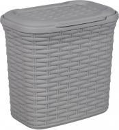Кошик для прального порошку Ucsan Plastik темно-сірий 260x270x180 мм