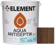 Лазурь-антисептик Element Aqua палисандр шелковистый глянец 0,75 л