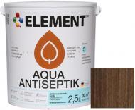 Лазурь-антисептик Element Aqua палисандр шелковистый глянец 2,5 л