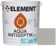 Лазурь-антисептик Element Aqua белый шелковистый глянец 2,5 л