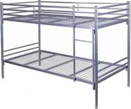 Кровать двухъярусная AMF Art Metal Furniture АМФ-1 90x200 см алюминий