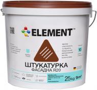 Декоративна штукатурка короїд Element фасадна R20 Дубова кора 2 мм 25 кг