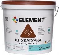 Декоративна штукатурка баранець Element фасадна К15 Зерниста 1,5 мм 25 кг