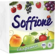 Серветки столові Soffione  24х24 см білі 50 шт.