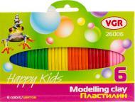 Пластилін  6 кольорів 26006