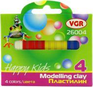 Пластилін  Happy Kids VGR 4кол, 30 гр VGR
