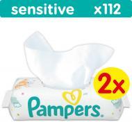 Дитячі вологі серветки Pampers Sensitive Duo 224 шт.