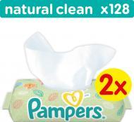 Серветки Pampers natural clean Ромашка 128 шт.