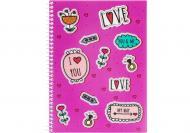 Блокнот Valentine: Stickers А5 80 арк. клітинка E21951-07 Economix