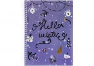 Блокнот Christmas: Hello Winter А5 60 арк. клітинка E21950-02 Economix
