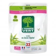 Рідкий засіб для машинного та ручного прання L'Arbre Vert Рослинне мило 1,5 л