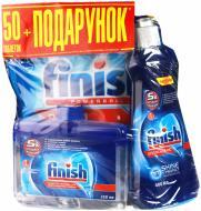 Таблетки для ПММ Finish Tabs All in 1 50 шт. + ополіскувач 400 мл + очищувач для ПММ 250 мл
