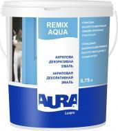 Эмаль акриловая Aura® Luxpro Remix Aqua белый глянец 0,75л