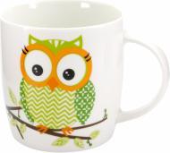 Чашка Сова 415 мл зеленая 21-272-008 Keramia