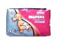Підгузки Hush Pet тришарові Diapers XL 12 шт./уп. для домашніх тварин