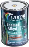 Емаль Lakor алкідна ПФ-115К жовтий глянець 0,9кг