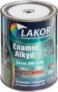 Емаль Lakor алкідна ПФ-115К чорний глянець 0,9кг