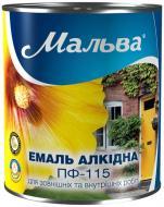 Эмаль Мальва® алкидная ПФ-115 белый глянец 2,8кг