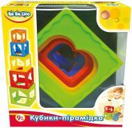 Іграшка розвивальна Bebelino кубики-пірамідка 57028
