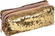 Пенал з паєтками 18x7,5x6 см золотисто-сріблястий