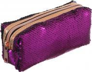 Пенал з паєтками 18x7,5x6 см рожево-синій