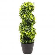 Растение искусственное Самшит в черном горшке 50 см