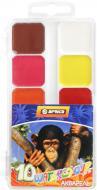 Акварель медова  AFRICA 10 кольорів Economix