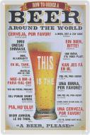 Табличка жестяная печатная Beer world 30x20 см разноцветный