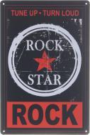 Табличка жестяная печатная Rock star 30x20 см разноцветный