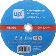 Круг відрізний UP! (Underprice) 230x2,0x25,4 мм 230х2,0 mm