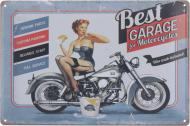 Табличка жестяная печатная Best garage 20x30 см разноцветный