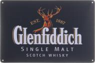 Табличка жестяная печатная Glenfiddich 20x30 см разноцветный
