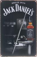 Табличка жестяная печатная Jack Daniels 30x20 см разноцветный
