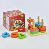 Детская деревянная пирамидка-сортер Fun Game Fun Logics 7377 Разноцветная (2-7377-73168)