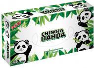 Серветки гігієнічні у коробці Сніжна Панда 150 шт.