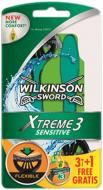 Станки одноразовые WILKINSON SWORD Xtreme3 Sensitive 3 + 1 шт.