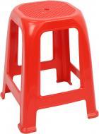Табурет пластиковий Алеана Піф 46,3x36,5x36,5 см червоний