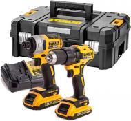 Набір електроінструментів DeWalt акумуляторний дриль-шуруповерт та ударний шуруповертDCD777 та DCF787 DCK2059D2T