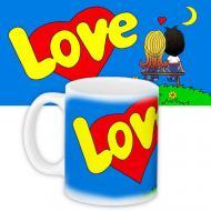 Кружка HMD с принтом Love is... Синяя (88-8723331)