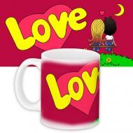 Кружка HMD с принтом Love is... Красная (88-8723332)