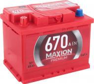 Акумулятор автомобільний MAXION Premium 6СТ - 65 А2 670 L 65А 12 B «+» ліворуч