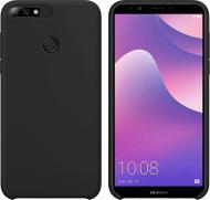 Чохол захисний Intaleo (Velvet) для Huawei Y7 2019 black силіконовий